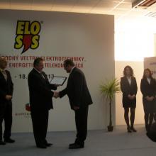 Ocenenie elektrotechnický výrobok roka Trenčín 2013